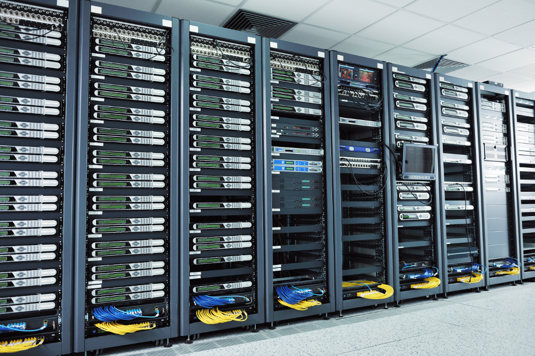 Data center w/ racks